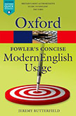 Cover for   Fowlers Concise Dictionary of Modern English Usage